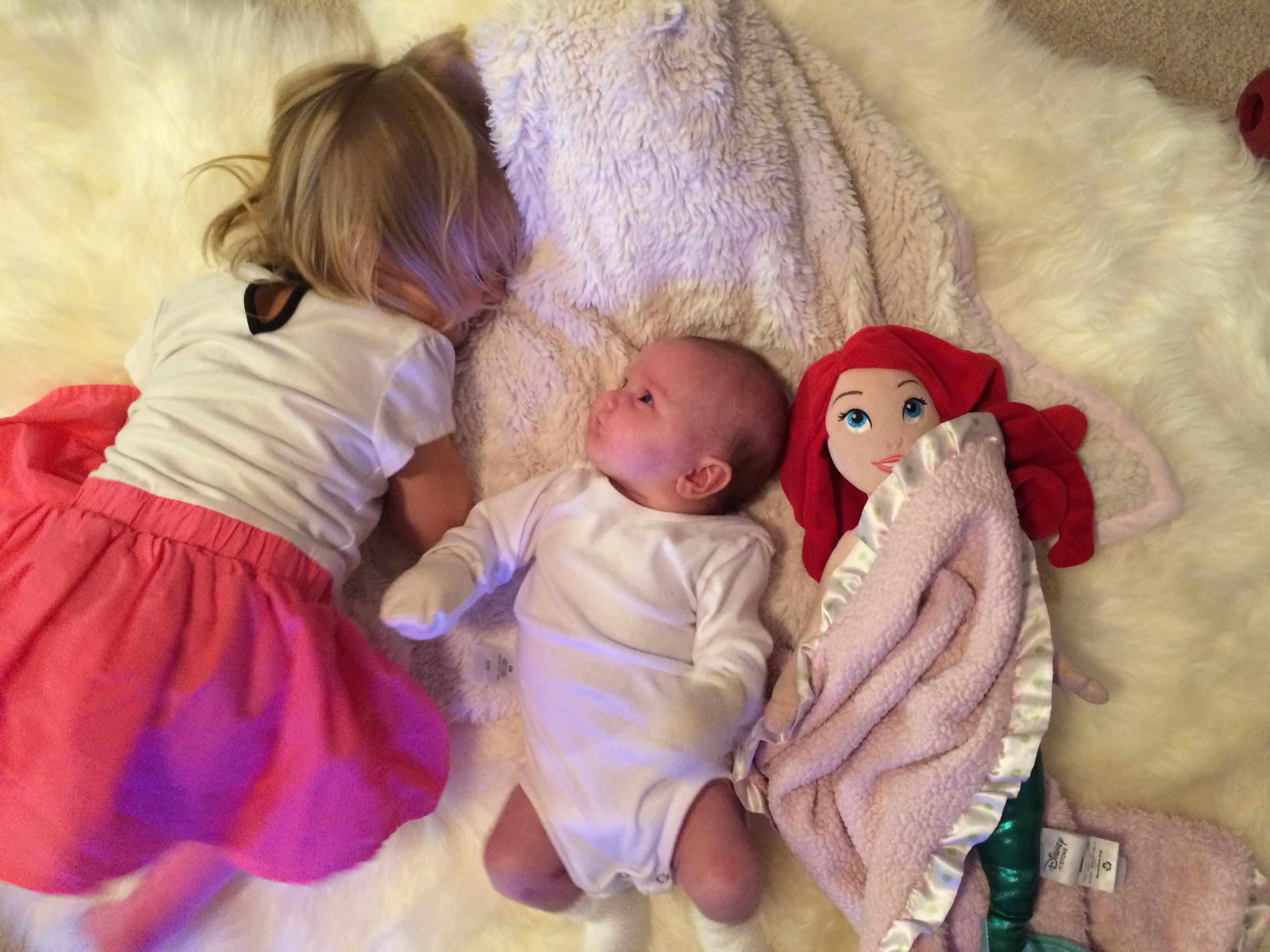 """Aliisa, Kiira and Aliisa's """"baby"""""""